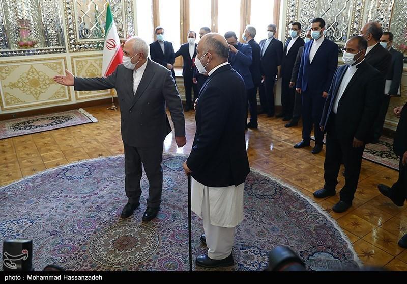 سرپرست وزارت امور خارجه افغانستان با ظریف دیدار کرد