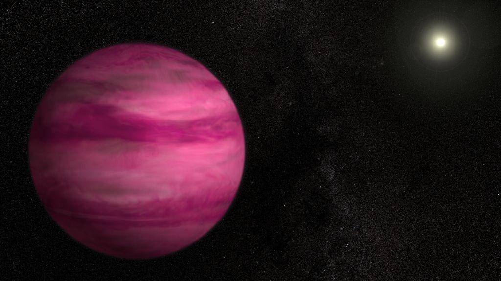 یک سیاره غول پیکر صورتی کشف شد