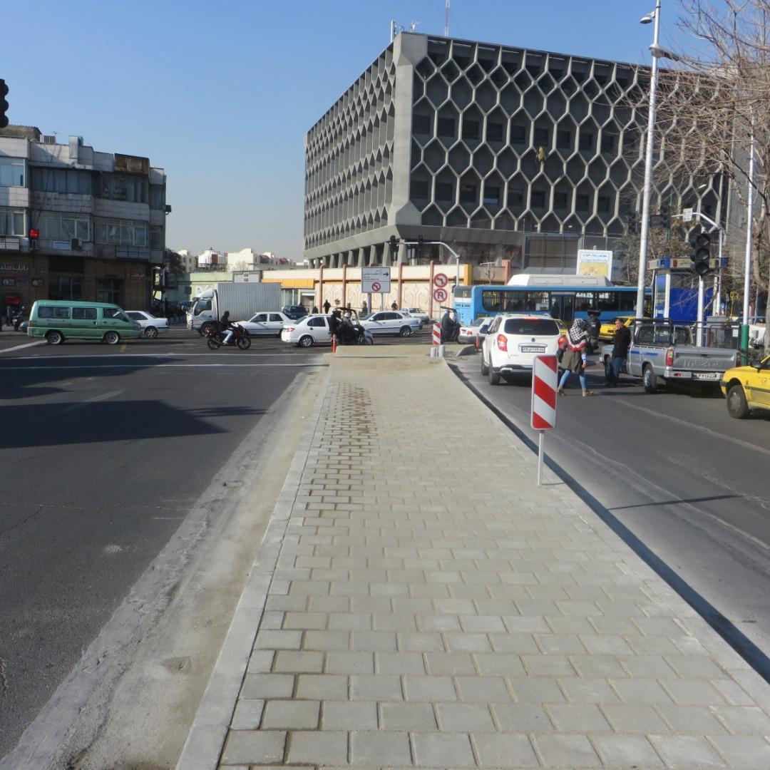 تردد خودرو ها در مرکز شهر تهران تسهیل شد